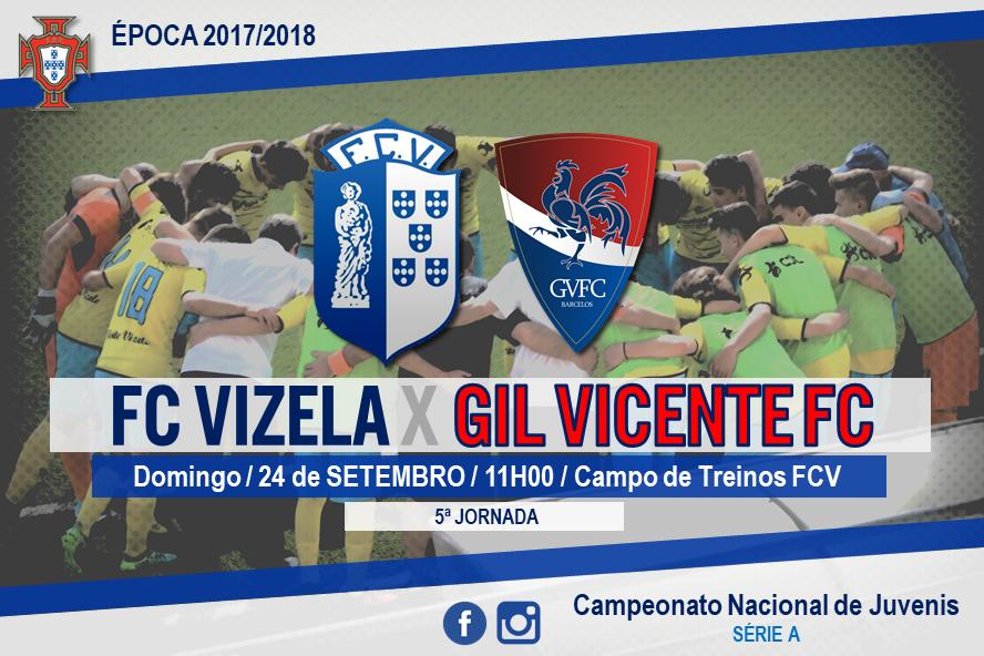 FC Vizela recebe Gil Vicente para o Nacional de Juvenis