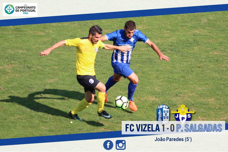Novo triunfo colocou FC Vizela isolado no 1.º lugar