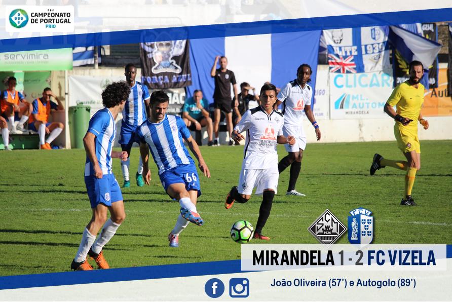 FC Vizela reforçou liderança em Mirandela