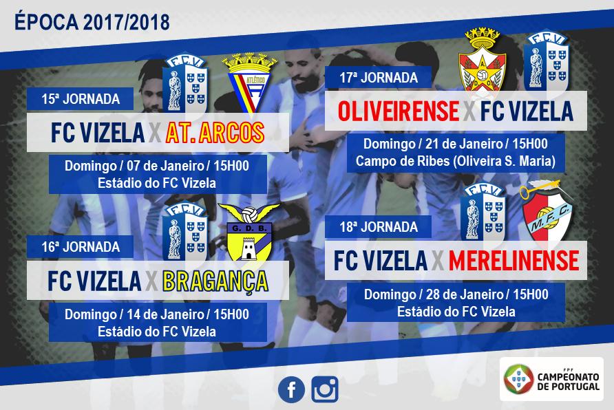 Programa do FC Vizela para Janeiro