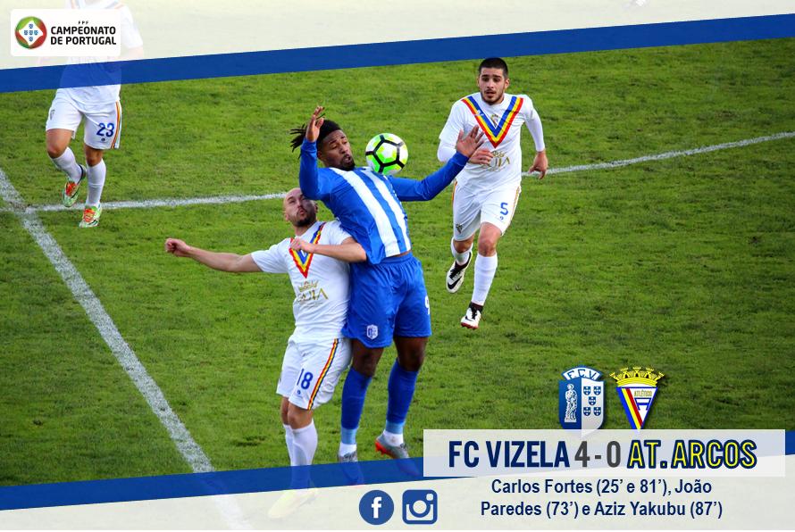 FC Vizela vence Arcos e reforça comando